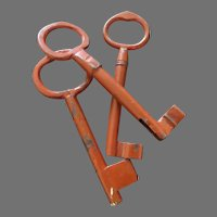Three Large 18th Century Iron Keys