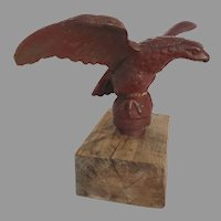Large Cast Iron Pilot House Eagle on Stand 19th Century