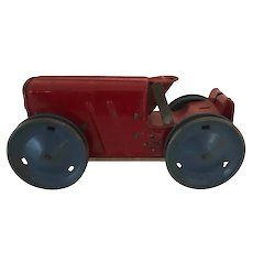 Vintage Marx wind up tractor red