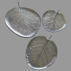 Vintage set of Three (3) Michael Aram Botanical Leaf Trays