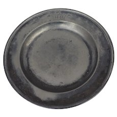 English Large Pewter Deep Charger by J. B. Finck