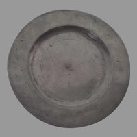 """Nice Pewter Plate 9 1/8"""" Touchmarks 18th Century"""