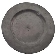 "Nice Pewter Plate 9 1/8"" Touchmarks 18th Century"