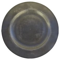 "10"" Pewter Charger Plate Owner's Initials"