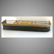 English Brass and Steel Warming Fire Fender c 1800 Trivet