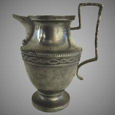 19th Century European Pewter Milk Jug