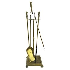 Arts and Crafts Period Fire Tool Set and Stand