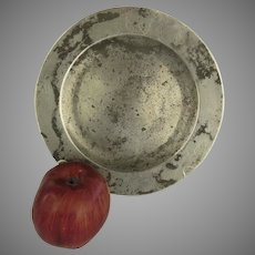 """18th Century English Pewter Plate 8 1/2"""" by Richards Touch Marks Rustic Country"""