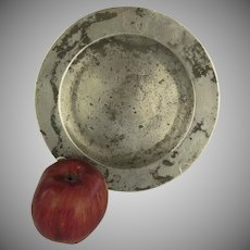 "18th Century English Pewter Plate 8 1/2"" by Richards Touch Marks Rustic Country"