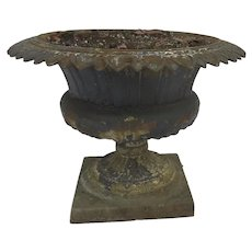 Cast Iron Footed Planter Urn c 1890