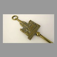 English Brass Toasting Fork Vintage Norwich Cathedral