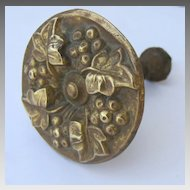 Brass Repousse Curtain Tie Back