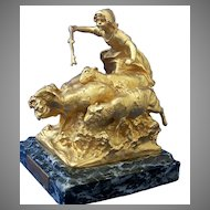 Gilt Bronze Sculpture by Charles Karl Korschann