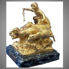 Gilt Bronze Sculpture by Charles Karl Korschann