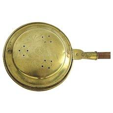 English Brass Bed Warmer 19th Century