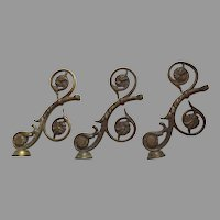 Great Architectural Bronze Piece Stairway Balustrade Rosette