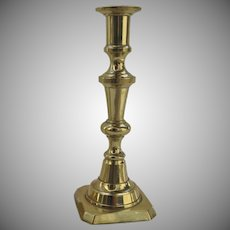 Mid 19th Century English Brass Candlestick