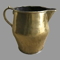 Early 19th Century Brass Medium Pitcher