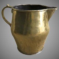 Early 19th Century Brass Medium Pitcher