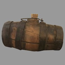 19th Century Coopered Barrel with Iron Stays Gun Powder Whiskey Keg