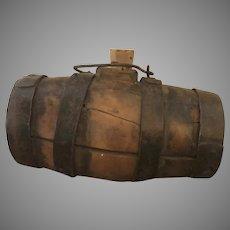 19th Century Coopered Barrel with Iron Stays Gun Powder Whiskey Keg