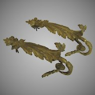 French Bronze d'ore Curtain Tie Backs Early 19th Century Gilt