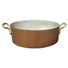 E.Dehillerin 1900's French Paris Huge Copper Pot Pan Culinary