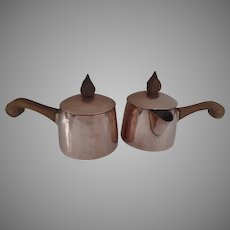 Mid Century Copper Chafing Dishes Pans Pots by Coppersmith J. C. Moore