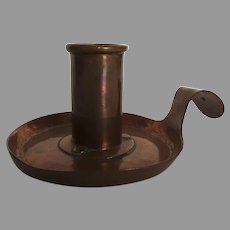 19th Century Copper Chamberstick