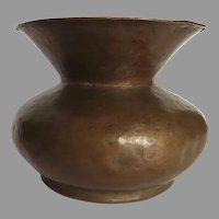19th Century Copper Handmade Urn Vase Spittoon