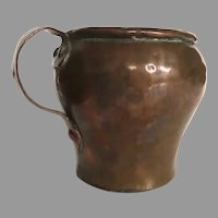 English Early 19th Century Copper Tankard Mug Cup or Culinary