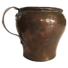 English Early 19th Century Copper Tankard Mug Cup or Culinary