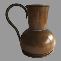 19th Century Copper Measure Vessel with Handle