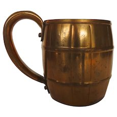 Vintage Barrel Shaped Copper Mug Tankard Moscow Mull