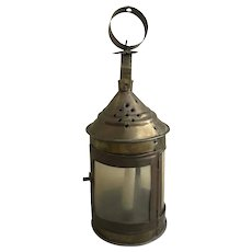 19th Century Rustic Country Brass Lantern