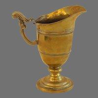French 18th Century Brass Ewer Pitcher Helmet Shaped