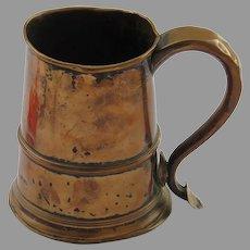English Sheffield (all silver worn off) Tankard 18th Century