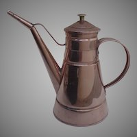 Vintage Copper Kitchen Pitcher Tin Lined