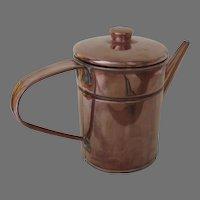 Vintage Copper Tin Lined Syrup Pitcher Vase Flower Pot