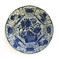 18th Century Dutch Blue and White Delft Charger