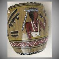 Vintage Deruta Italy Italian Pottery Mugs Faux Bois Egyptian