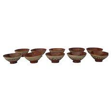 Vintage Mexican Pottery Bowls (10) Tlaquepaque