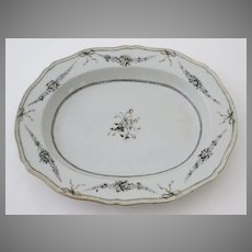 Chinese Export Grisaille Platter