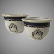 Two Early 19th Century Chinese Export Cache Pots