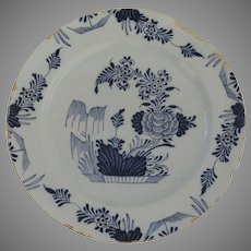 """Chinese Export Blue and White Charger 18th Century 13 1/2"""""""