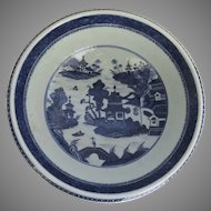 Chinese Canton Export Fitzhugh Porcelain Punch Bowl