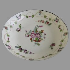 18th Century Chinese Export Small Saucer Dish Delicate Floral