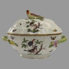 Herend Rothschild Bird Tureen and Under Platter