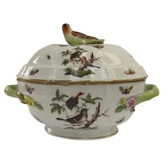 Herend Rothschild Bird Tureen and Under Platter