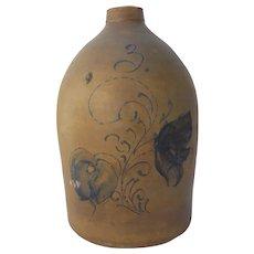 19Th Century Stoneware Crock Jug  3 Gallon